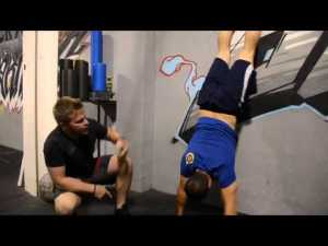 wall pushup
